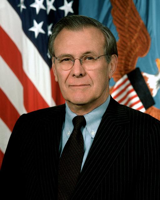 Official portrait of the Honorable Donald H. Rumsfeld, U.S. Secretary of Defense. Feb. 2, 2001. (U.S. Army PHOTO by Scott Davis, CIV) (Released)