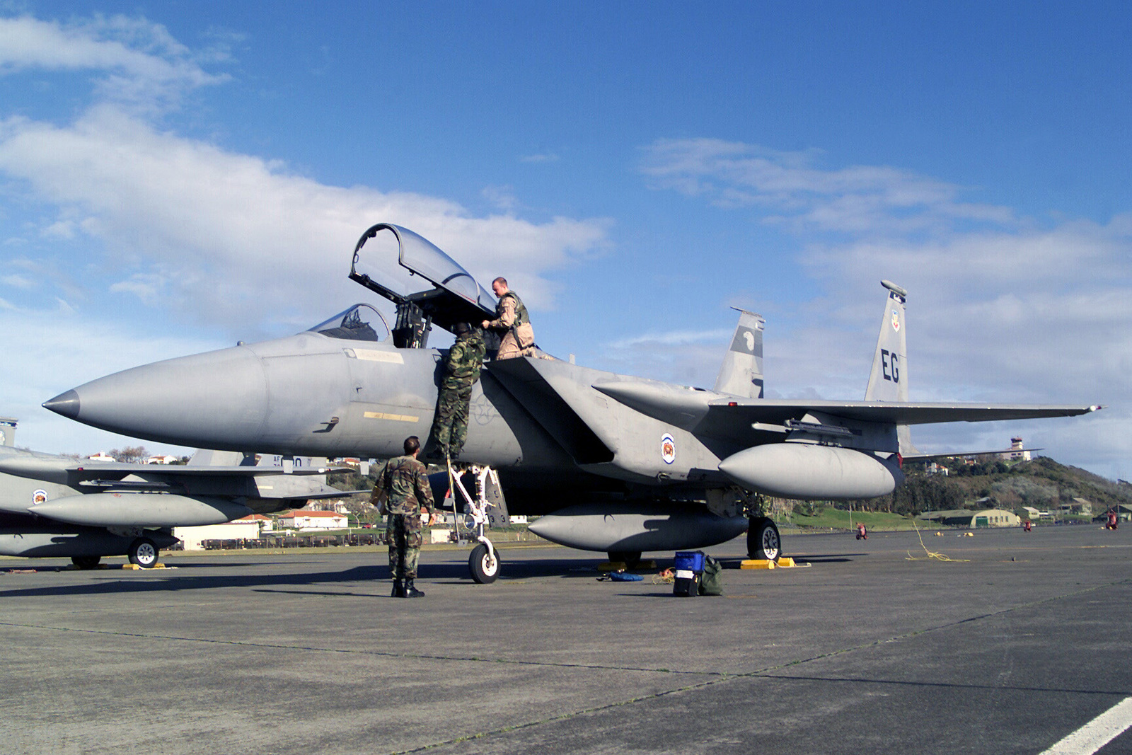 Members From The 65th Operation Support Squadron At Lajes Field Azores Portugal Assist Pilots 58th Fighter Elgin Air Force Base