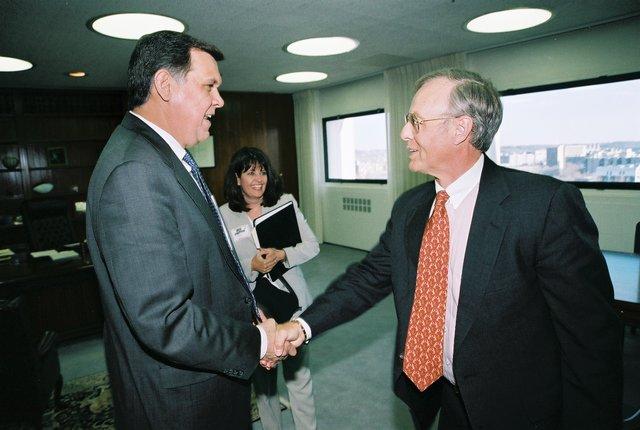 Secretary Mel Martinez with Don Weidener, Debra Hulse