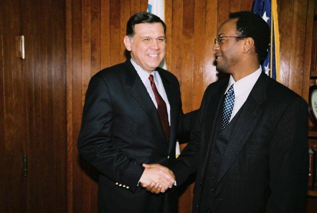 Secretary Mel Martinez with Tony Campbell