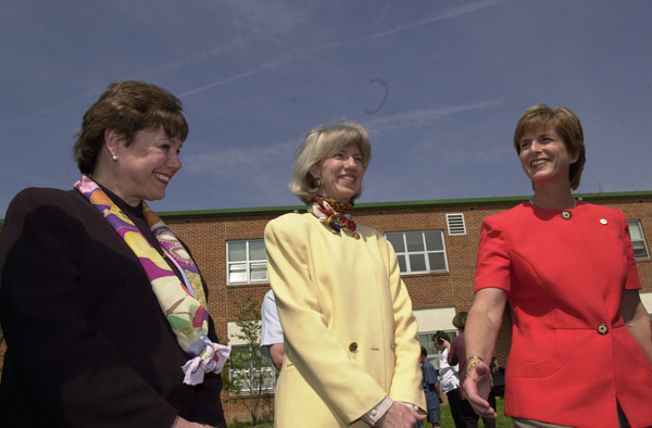 Agriculture Secretary Ann Veneman, Interior Secretary Gale Norton, and Environmental Protection Agency Administrator Christine Todd Whitman, left to right, at Environmental Protection Agency-sponsored President's Environmental Youth Awards ceremony honoring youth projects demonstrating commitment to the environment