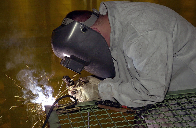 """STAFF Sergeant (SSGT) John Douglas, USAF, cuts frame of a metal cage door as part of a project to expand a storage area at Air Force detachment at Istres Air Base, France. SSGT Douglas deployed with three ors from 3rd Civil Engineers, Elmendorf Air Force Base, Alaska, on a 90-day Air Expeditionary Force deployment with 16th Expeditionary Operations Group here as part of Operation JOINT FORGE.""""The United States has agreed to provide a force of approximately 6,900 U.S. Service member to help maintain a capable military force in Bosnia-Herzegovina. No timetable for duration of Operation JOINT FORGE has been determined. The mission will be assessed periodically and..."""