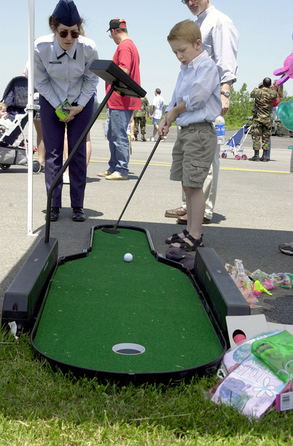 Miniature golf was one of many activities during Family Day, 174th Fighter Wing, New York Air National Guard, Syracuse, New York