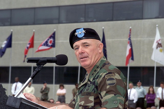 Lieutenant General (LGEN) Leon J. LaPorte, USA, Deputy Commanding General for Forces Command, speaks during his Welcome Ceremony held at Headquarters Forces Command