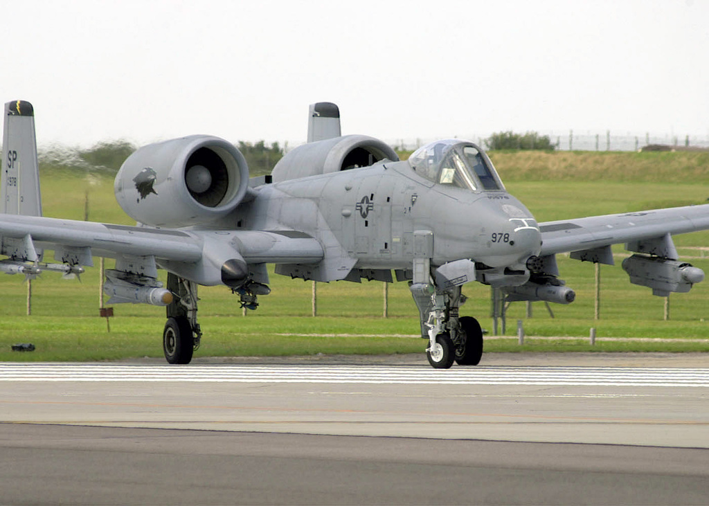 An A-10 Thunderbolt II from the 81st Fighter Squadron Spangdahlem Air Base, Germany waits for take off in the aircraft hold area at Royal Air Force (RAF) Lakenheath, United kingdom. Personnel from the 52nd Fighter Wing are currently deployed at RAF Lakenheath in preparation for the NATO Tactical Evaluation in October.U.S. Air Force photo by AIRMAN 1ST Class James L. Harper