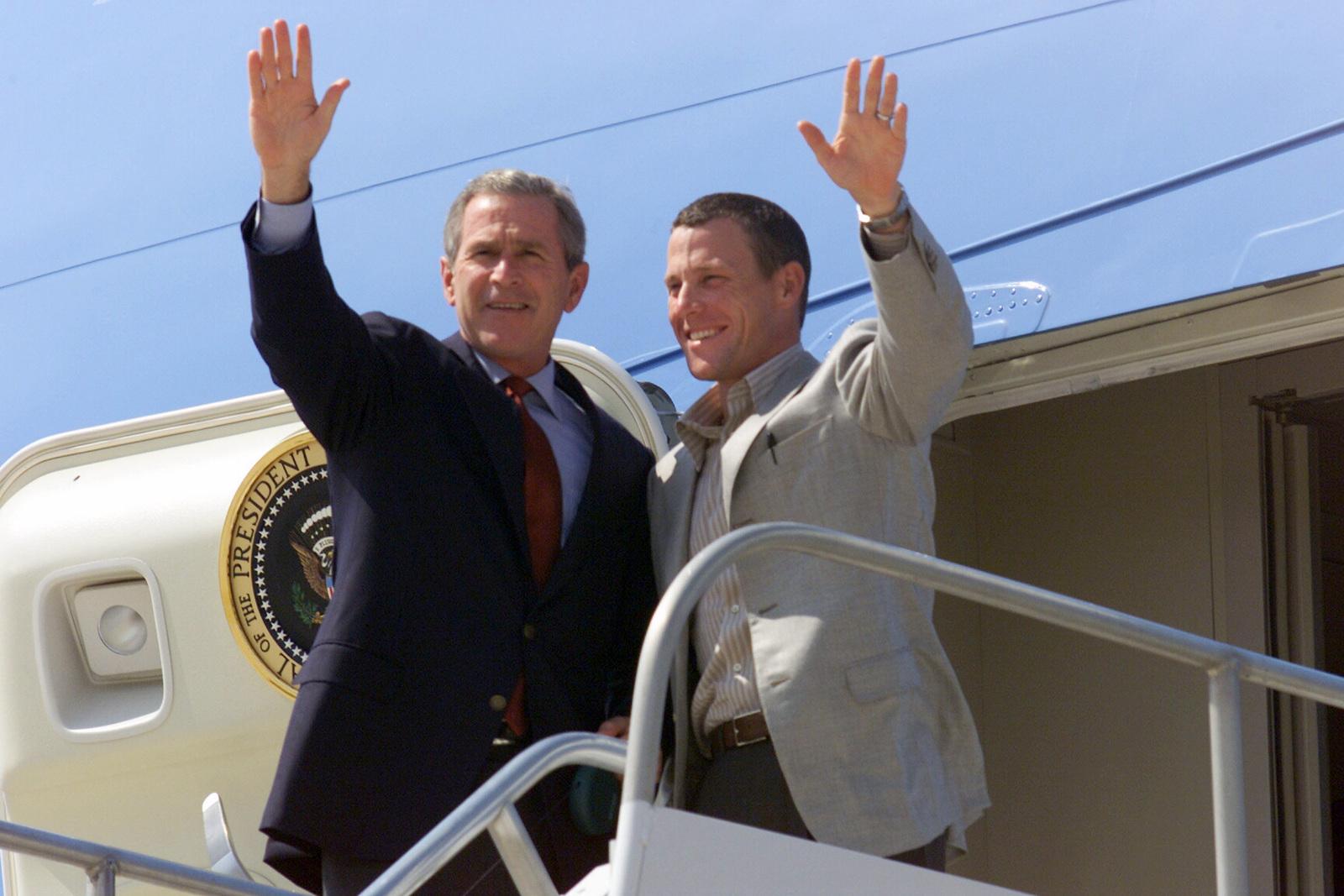 President George W Bush And Three Time