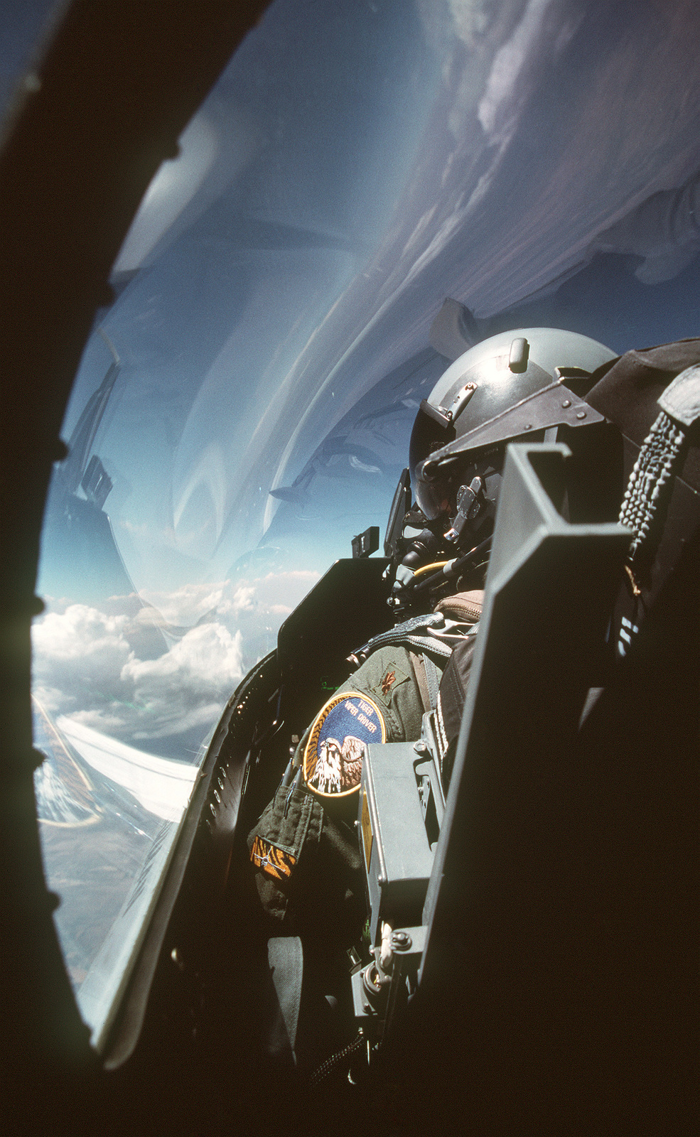 A US Air Force Major (MAJ) Douglas Schaare, 79th Fighter Squadron, 20th fighter Wing pilots an F-16CJ Fighting Falcon aircraft over the Utah Test and Training Range during the Tiger Meet of the Americas air combat training mission. The Inaugural Tiger Meet of the Americas brought together flying units from throughout North America that have a Tiger or large cat as their unit symbol. The Tiger Meet of the Americas closely resembles the North Atlantic Treaty Organization (NATO)/Europe Tiger Meet in its goal of fostering camaraderie, teamwork and tactics familiarization