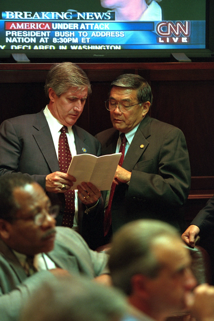911:  Andy Card and Norman Mineta Confer