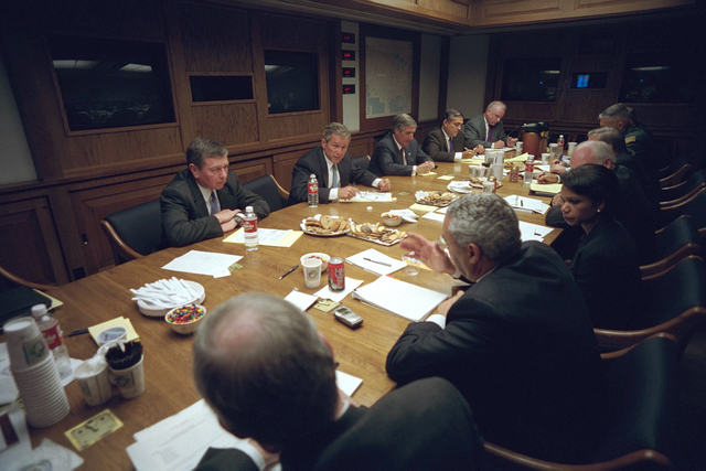 911:  President George W. Bush Holds a National Security Meeting