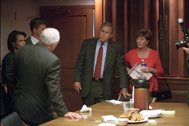 911:  President George W. Bush in President's Emergency Operations Center (PEOC)