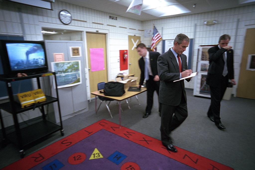 911:  President George W. Bush Takes Notes