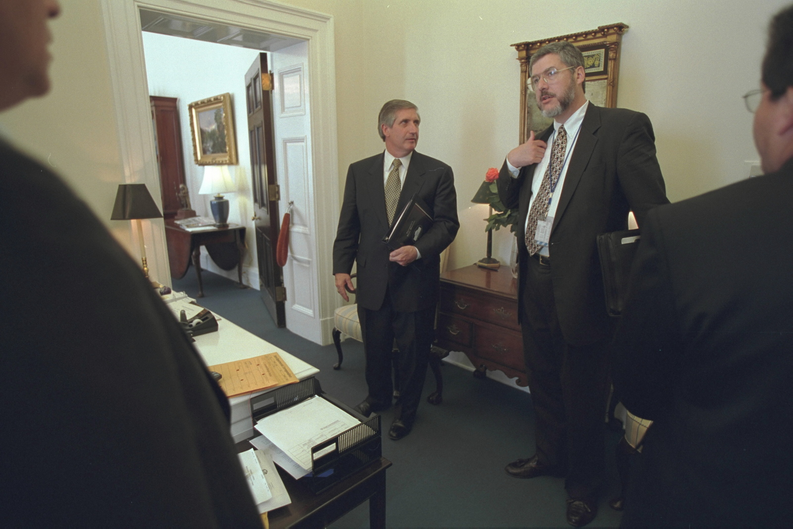 David Addington with Andrew Card