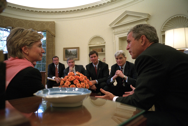 911:  President George W. Bush Meets with Officials in Oval Office