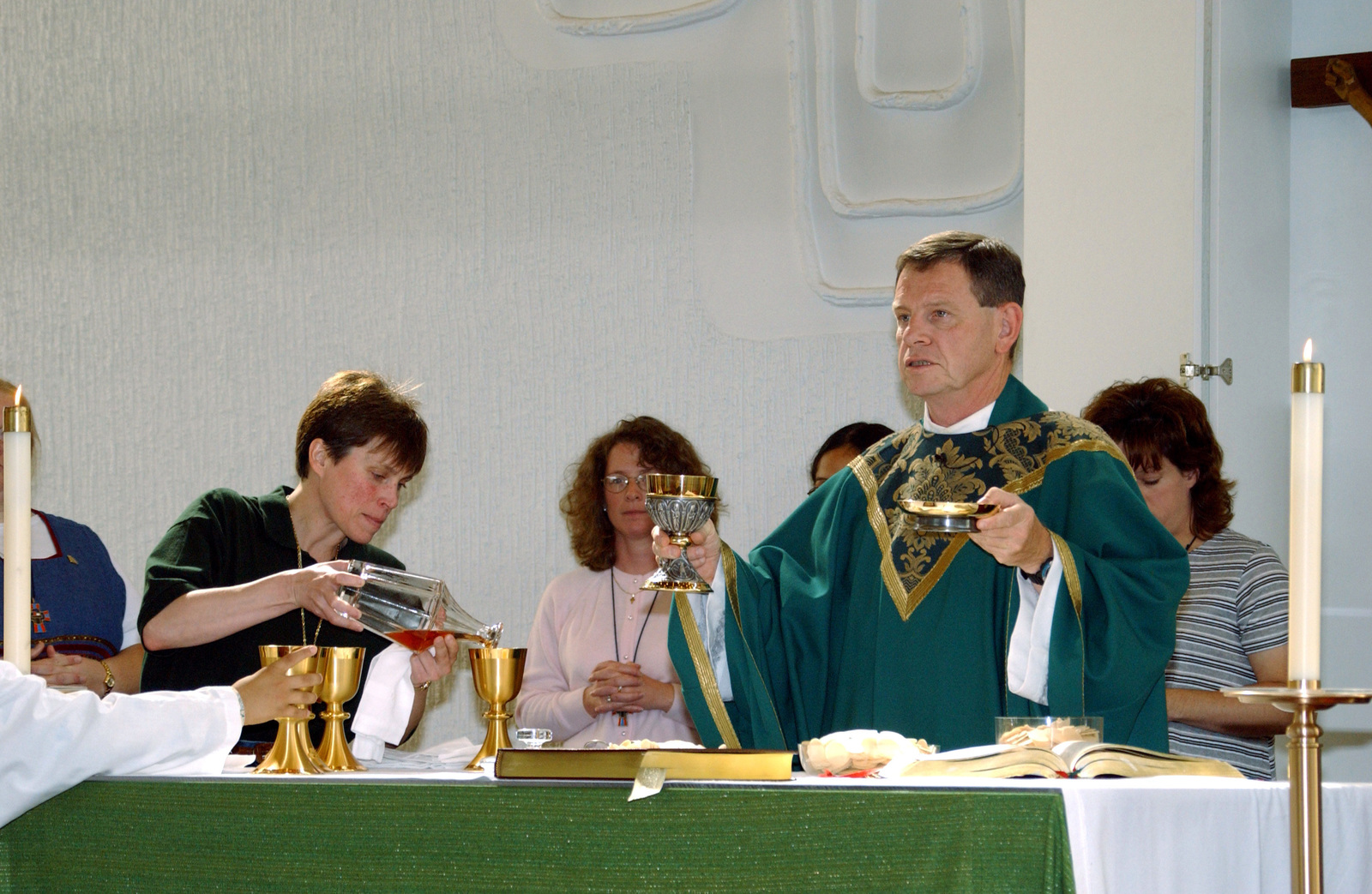 86th Airlift Wing Catholic Chaplain, Father Thomas Doyle completes