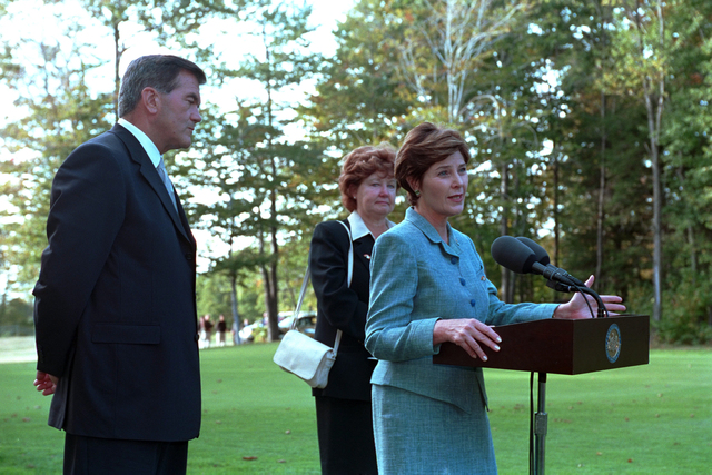 911:  Mrs. Laura Bush at Memorial Service