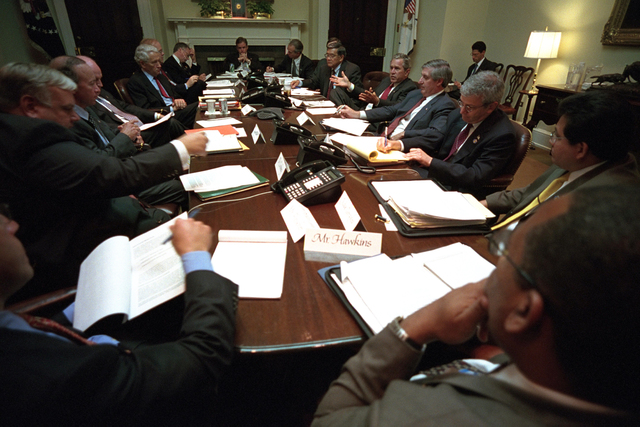 911:  President George W. Bush with Insurance Representatives