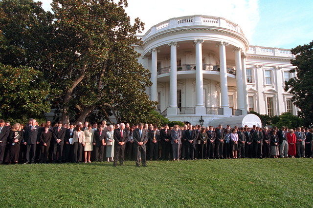 911:  South Lawn Moment of Silence