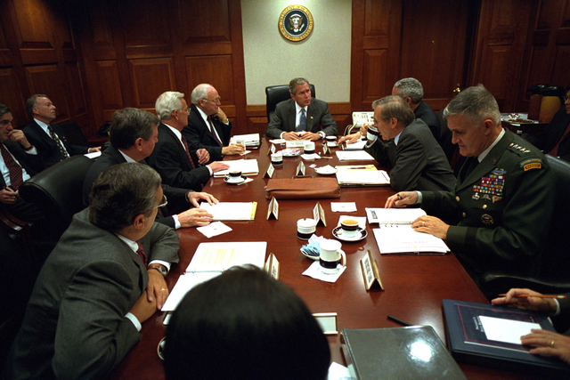 911:  President George W. Bush with National Security Council