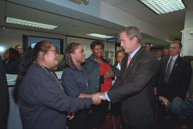 911:  President George W. Bush Greets Federal Emergency Management Agency (FEMA) Employees