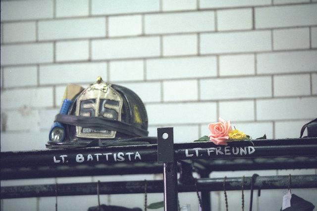 911:  President George W. Bush Visits New York City Firefighters
