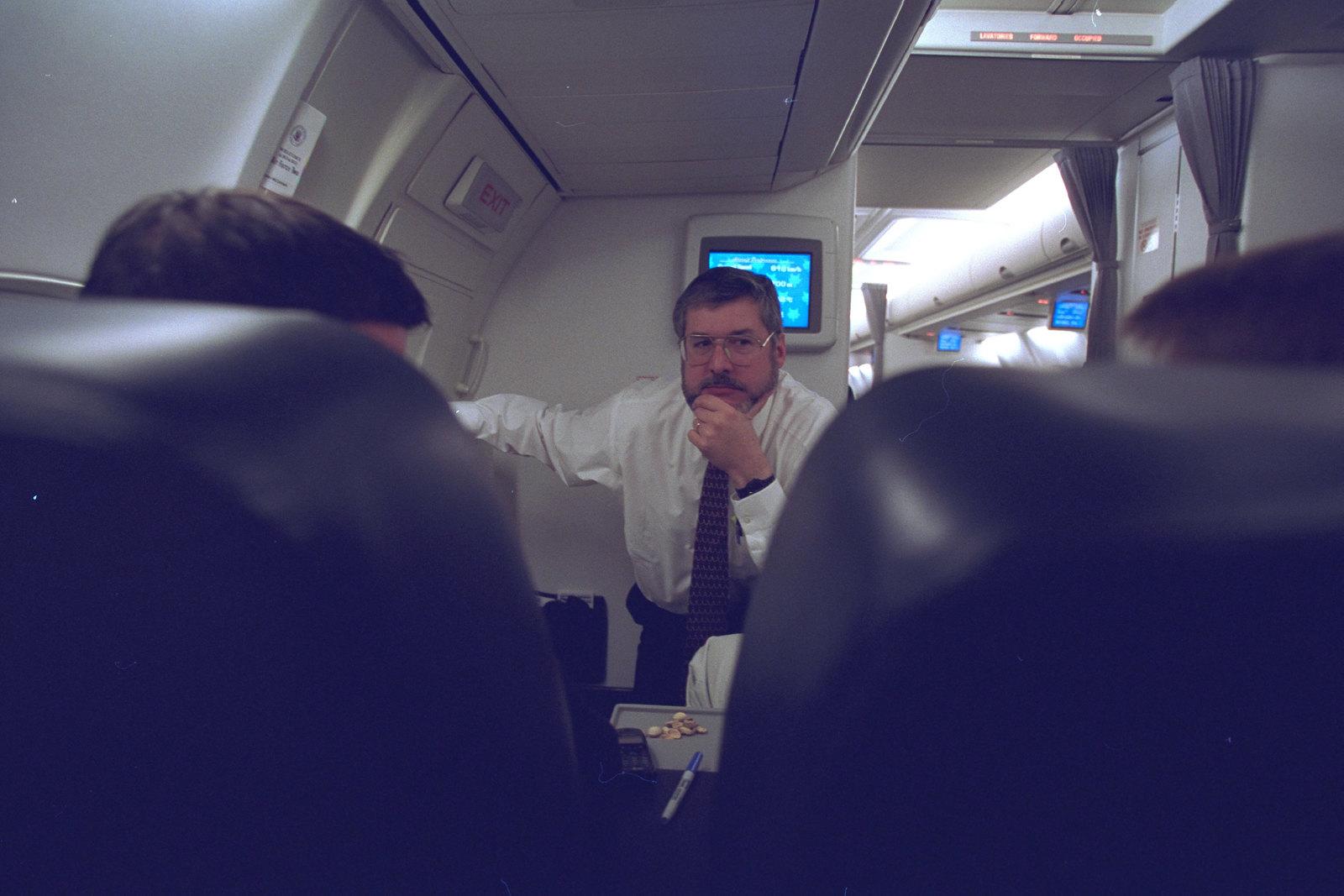 David Addington Aboard Air Force Two