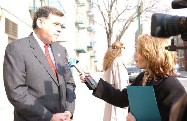 Secretary Mel Martinez in New York City with Mayor Rudolph Giuliani