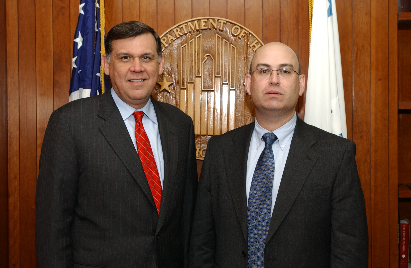 Secretary Mel Martinez with Colonel Emilio Gonzales