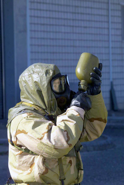 In Mission-Oriented Protective Posture response level 4 (MOPP-4