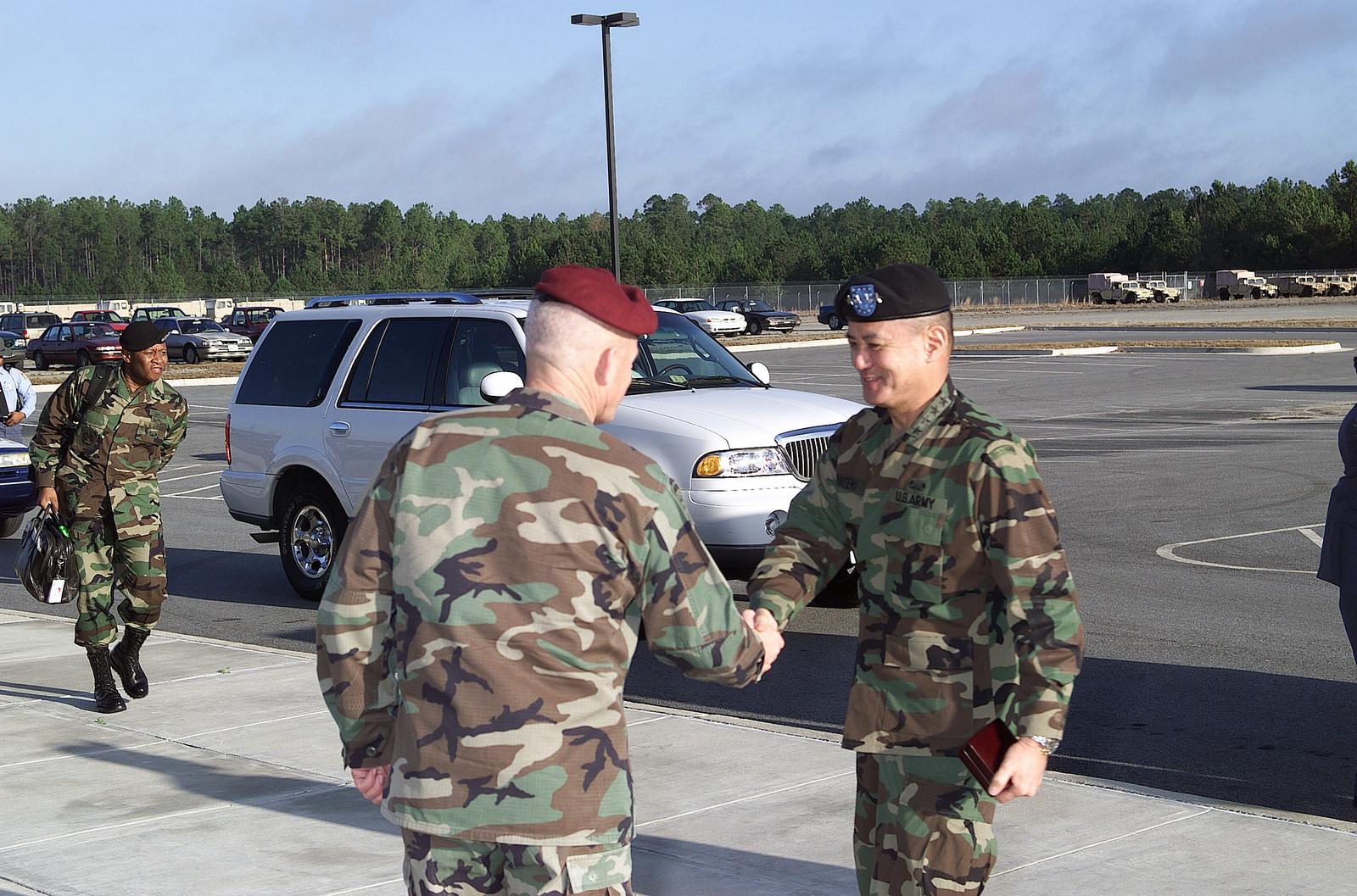 Lieutenant General (LGEN) Daniel ONeill, (left), Commander