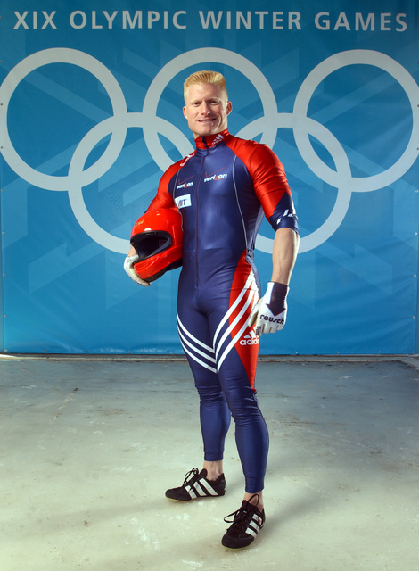 World Class Athlete SPECIALIST (SPC) (E-4) Douglas Sharp, USA, part of a four-man bobsled team. SPC Sharp and his team members won the Bronze medal at the XIX OLYMPIC WINTER GAMES at the Utah Olympic Park in Park City, Utah, during the 2002 games