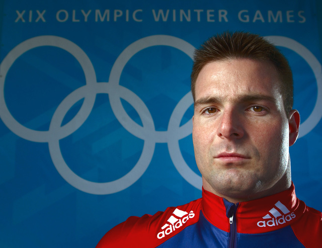 World Class Athlete SPECIALIST (SPC) (E-4) Michael Kohn, USA, part of a four-man bobsled team. SPC Kohn and his team members won the Bronze medal at the XIX OLYMPIC WINTER GAMES at the Utah Olympic Park in Park City, Utah, during the 2002 games