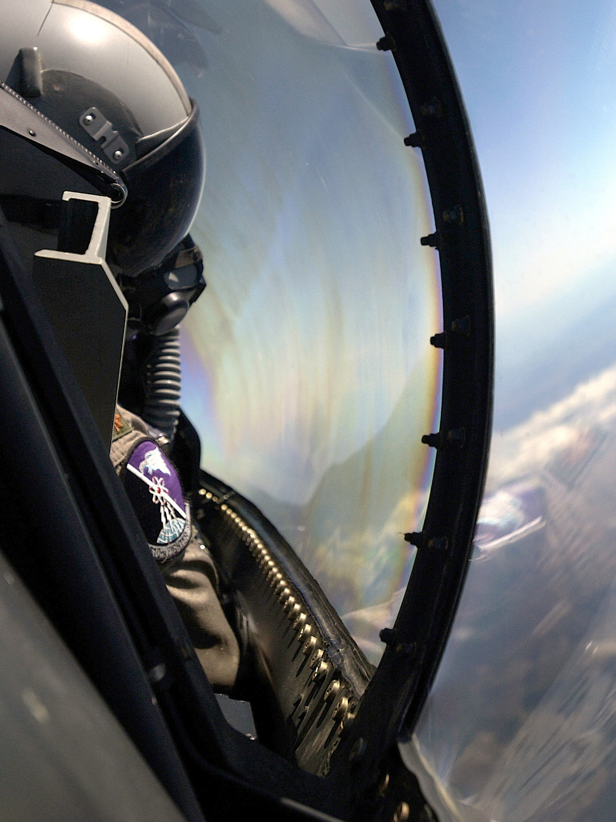 Pilots point of view as US Air Force (USAF) Major (MAJ) Brett