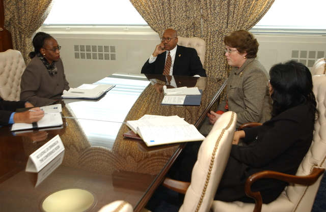Deputy Secretary Alphonso Jackson with South African Minister of Housing