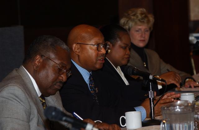 Deputy Secretary Alphonso Jackson with HUD Kansas City staff
