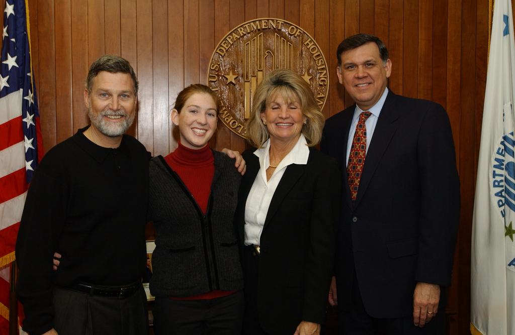Secretary Mel Martinez with Jamie and Peter Fox