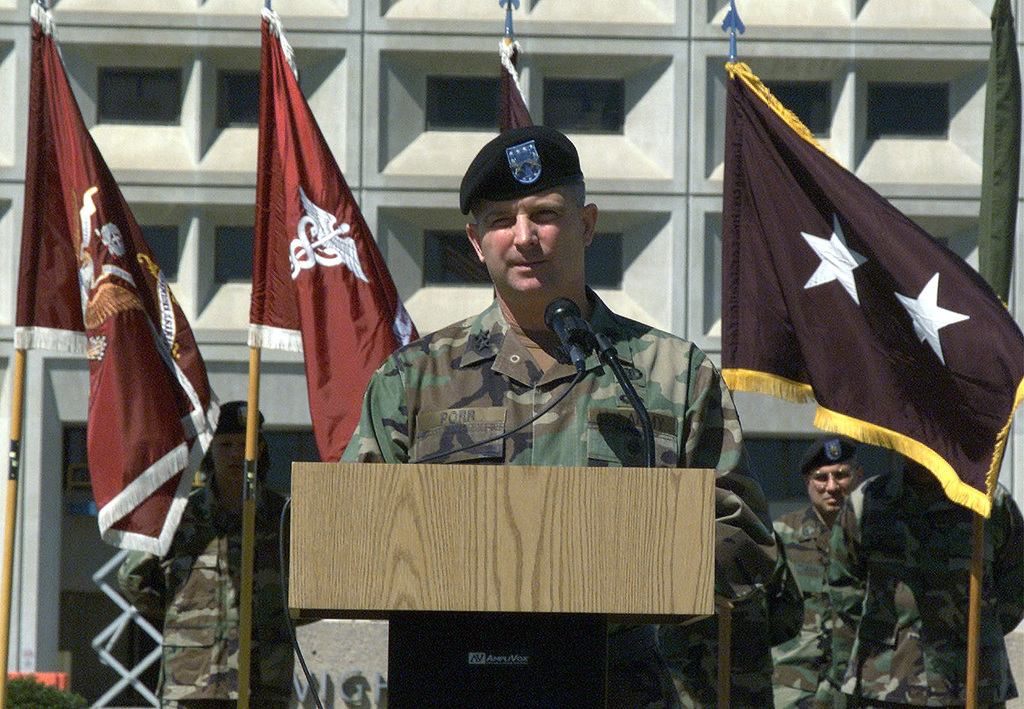 US Army Major General (MGEN) Darrel R  Porr, Commander