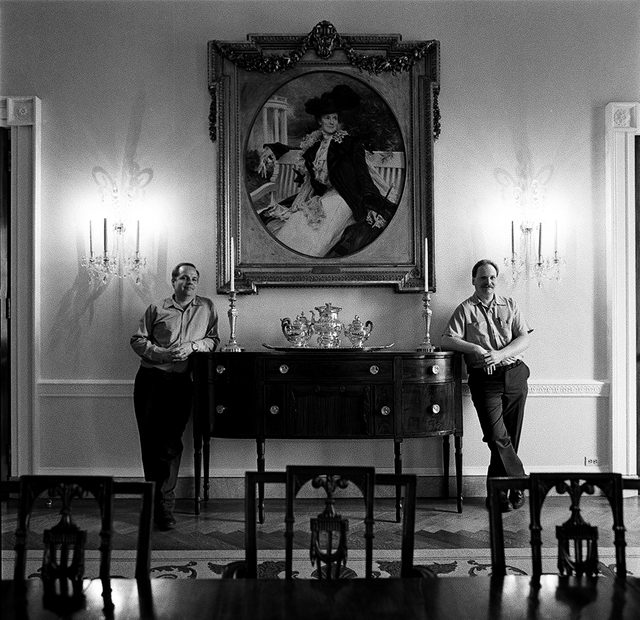 Portrait of Dennis J. Hawk and Lawrence M. Thomson, White House Operations Aids