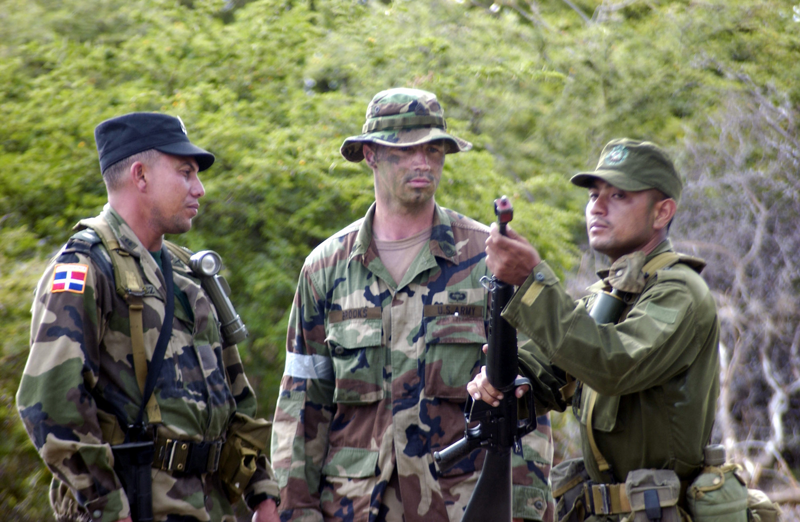 An observer and controller, US Army (USA) SPECIALIST First