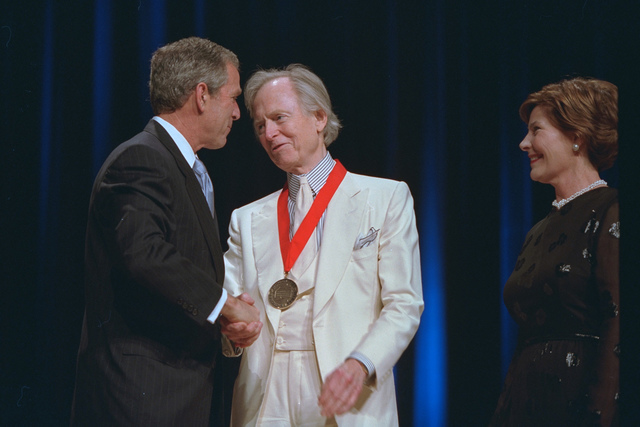 President Bush and Laura Bush Attend the Arts and Humanities Awards Ceremony with Tom Hall