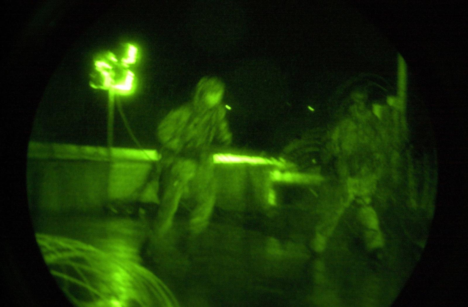 Light enhanced photography showing a US Marine Corps (USMC