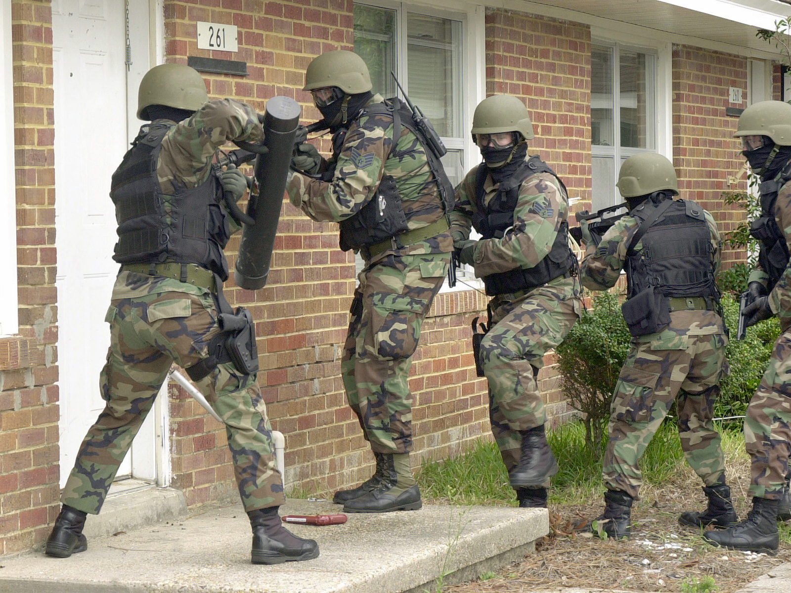 Us Air Force Usaf Security Police Sp From The 81st Security Forces Squadron Sfs Armed With