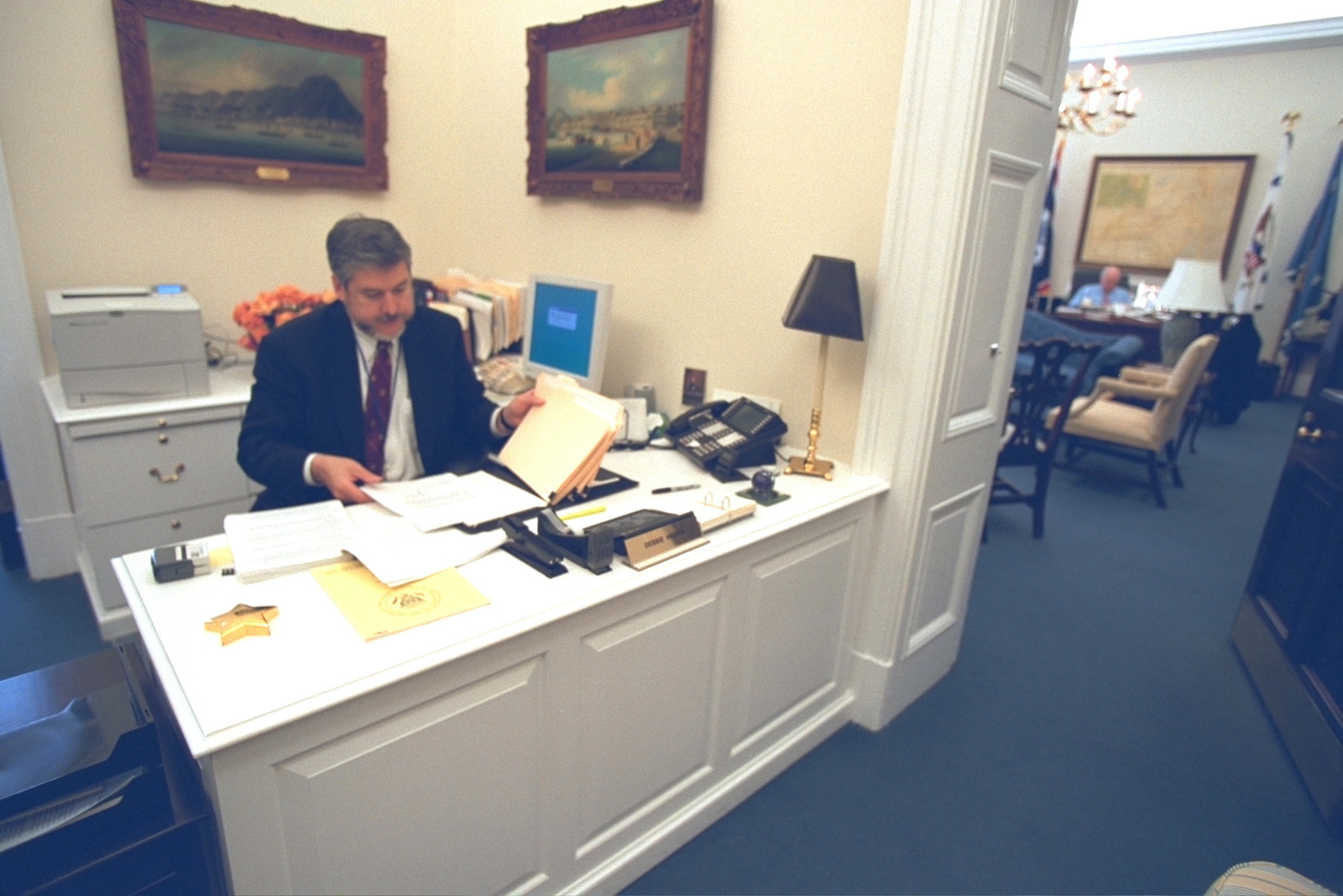 David Addington Working in the Outer Office of Vice President Cheney