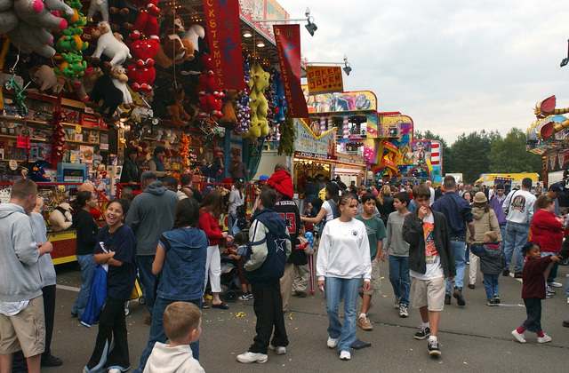Hundreds of spectators gather to enjoy the carnival of rides and attractions on hand for the Freedom Fest, Independence Day Celebration at Ramstein Air Base (AB), Germany