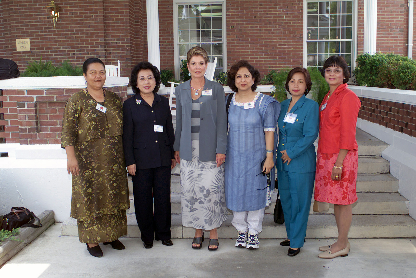 Mrs. Diane Jones (third from left), wife of General James L. Jones, Commandant of the United States Marine Corps, poses for a photo with other commandant wives at the World Wide Commandants Conference at Marine Corps Base, Camp Lejuene, North Carolina