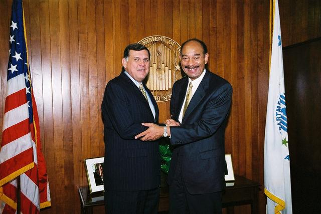 Secretary Mel Martinez with Bill Jennings and Rob Brancheau