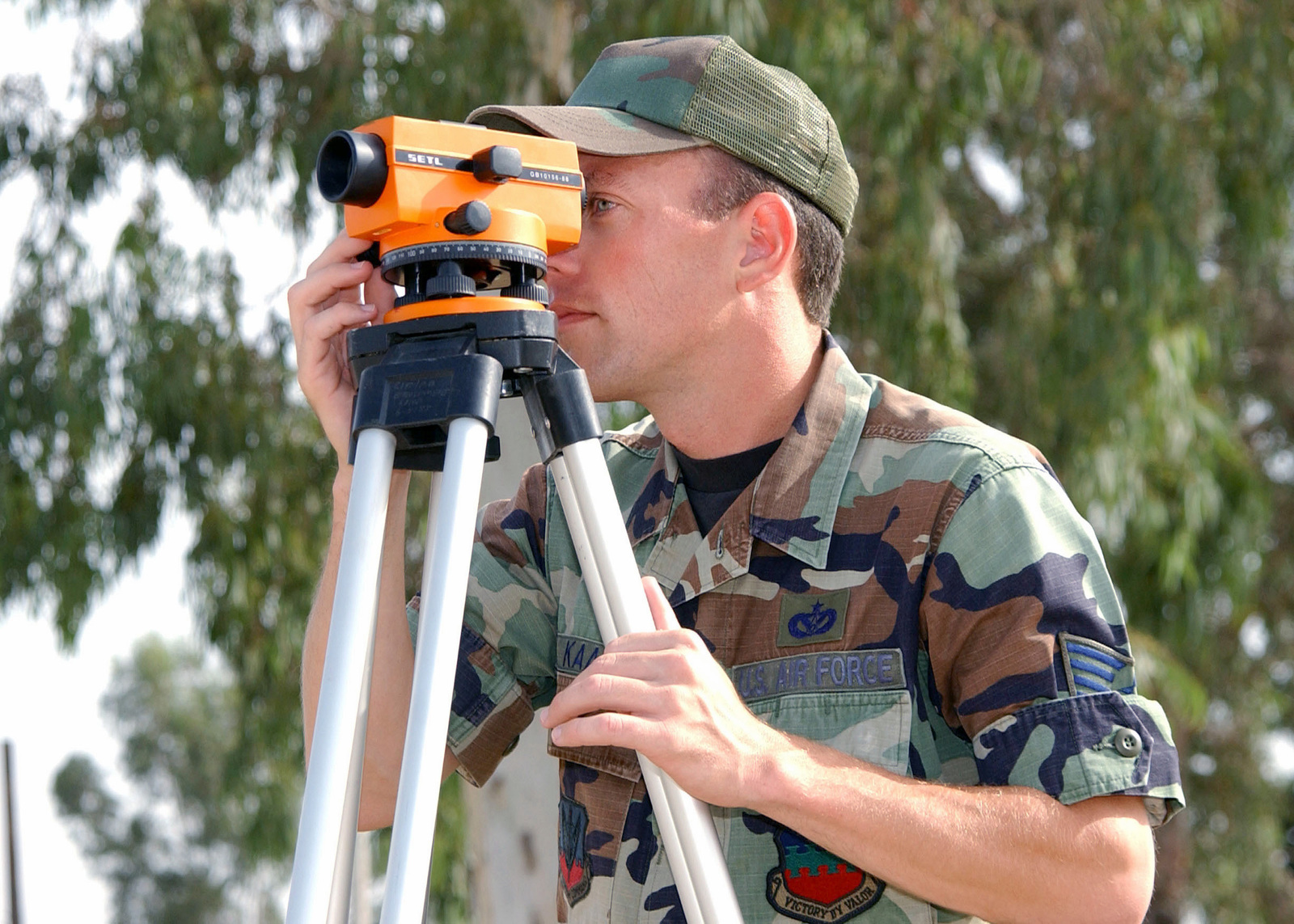 US Air Force (USAF) STAFF Sergeant (SSGT) Jay Kaas, an engineering assistant, surveys the lay of the land at Incirlik Air Base, Turkey in support of Operation NORTHERN WATCH