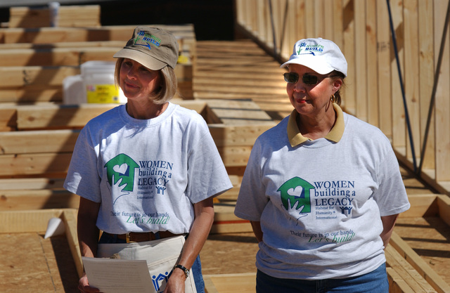 Wives of Bush Cabinet Members at Habitat for Humanity Event