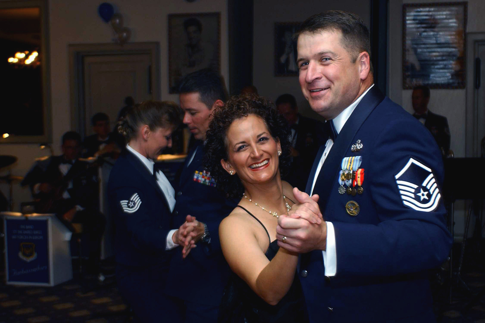 US Air Force (USAF) MASTER Sergeant (MSGT) John Snow and his wife Kay strut their stuff in the swing dance room, during the USAF Fifty-Fifth Birthday Ball Cerebration held at Ramstein Air Base (AB), Germany