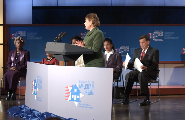 "White House Conference on Minority Homeownership: ""Blue Print for the American Dream"""