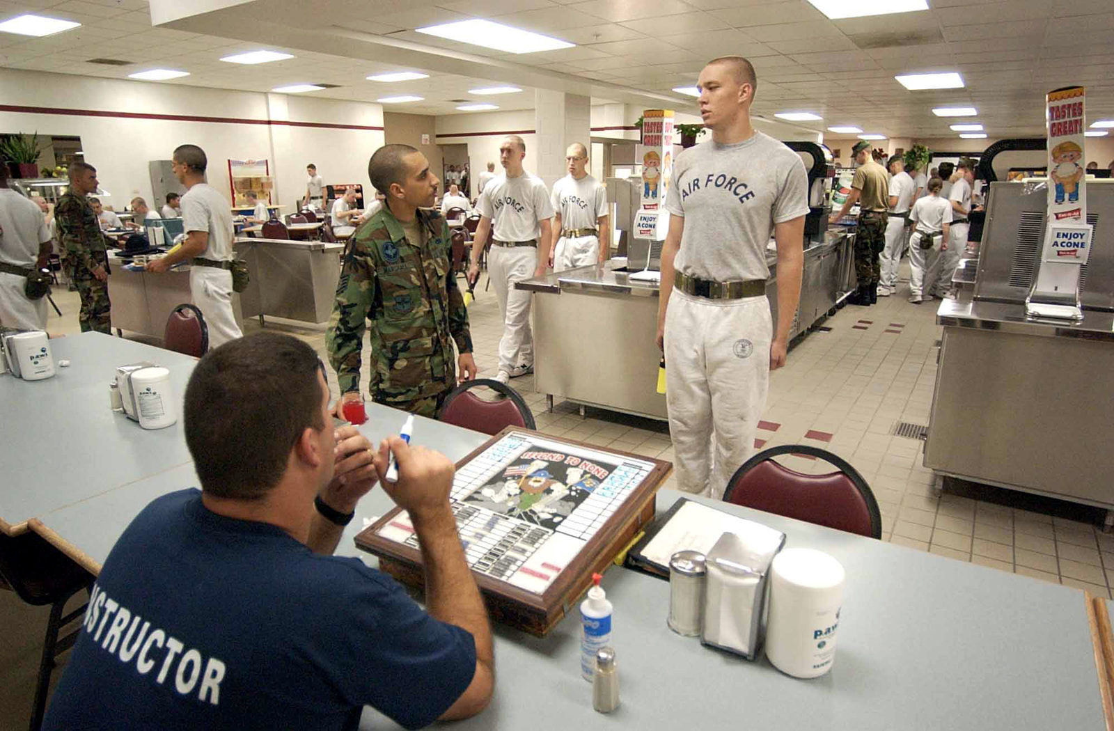 The Basic Military Training (BMT) instructors table, or